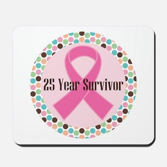 25 Year Breast Cancer Survivor Mousepad