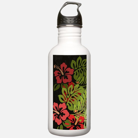 Hawaiian Flower Artwor Water Bottle
