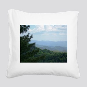 Great Smoky Mountains I Square Canvas Pillow