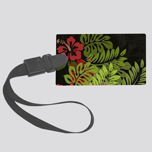 Hawaiian Flower Artwork Print De Large Luggage Tag