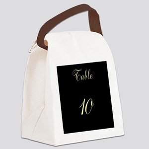Table Number Canvas Lunch Bag