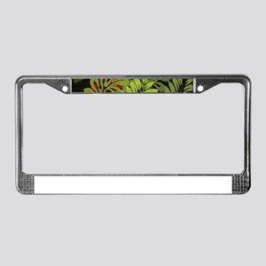 Hawaiian Flower Artwork Print License Plate Frame
