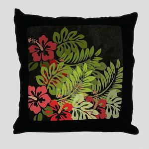 Hawaiian Flower Artwork Print Design Throw Pillow