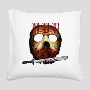 shh shh shh ahh ahh ahh Square Canvas Pillow