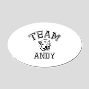 Team Andy 22x14 Oval Wall Peel