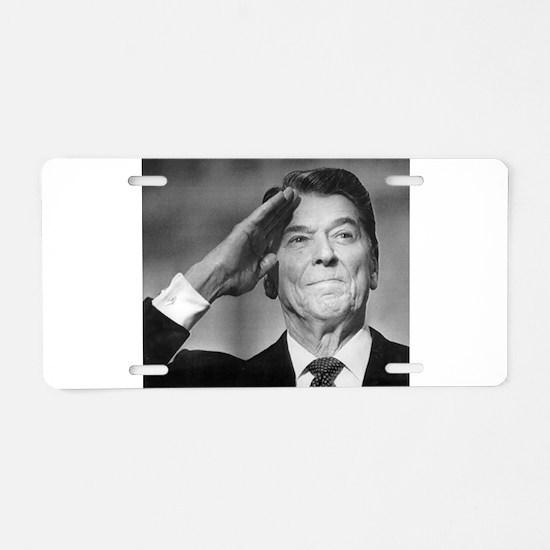 Ronald Reagan Aluminum License Plate