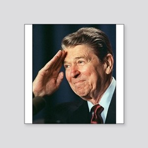 """Ronald Reagan Square Sticker 3"""" x 3"""""""