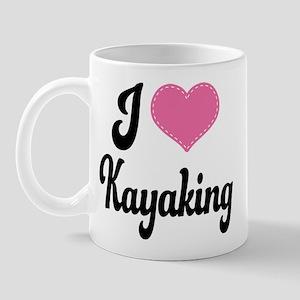 I Love Kayaking Mug