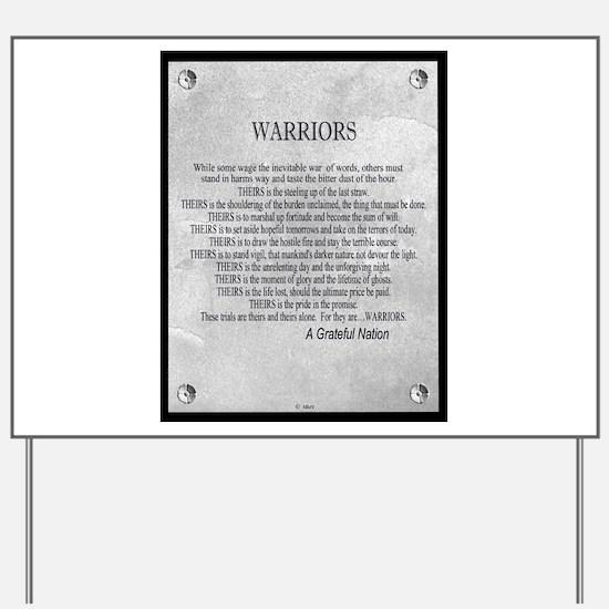 Warriors Yard Sign