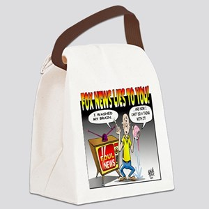 Fox news Lies to You! Canvas Lunch Bag