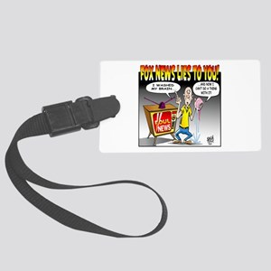 Fox news Lies to You! Large Luggage Tag