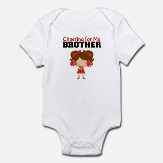 Cheering for My Brother Baby Bodysuit