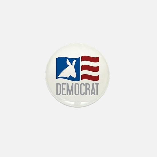 Democrat Donkey Flag Mini Button