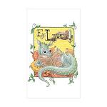 Dragon Reader (ex Libris Sticker (Rectangle 10 pk)