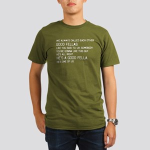 'Goodfellas Quote' Organic Men's T-Shirt (dark)