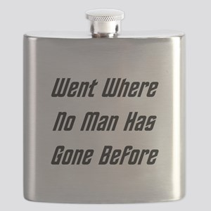 Went Where No Man Has Gone Before Flask