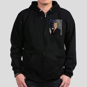 Hillary Clinton Zip Hoodie (dark)