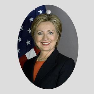 Hillary Clinton Ornament (Oval)