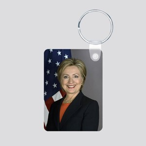 Hillary Clinton Aluminum Photo Keychain