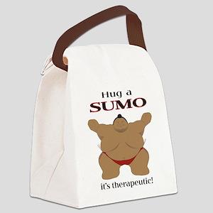 Hug a SUMO Canvas Lunch Bag