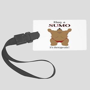 Hug a SUMO Large Luggage Tag