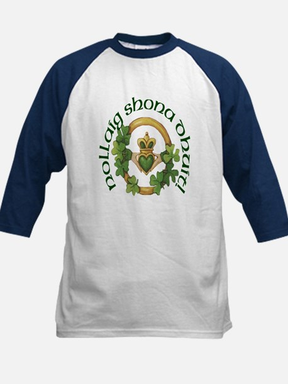 Gaelic Greetings Claddagh Kids Baseball Jersey