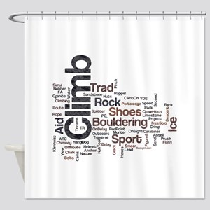 Climbing Words Shower Curtain