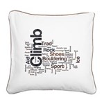 Climbing Words Square Canvas Pillow
