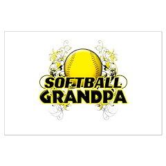 Softball Grandpa (cross).png Posters