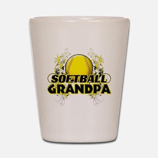 Softball Grandpa (cross).png Shot Glass