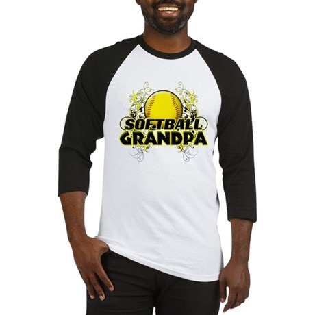 Softball Grandpa (cross) Baseball Jersey