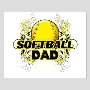 Softball Dads (cross) Small Poster