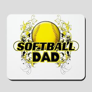 Softball Dads (cross) Mousepad
