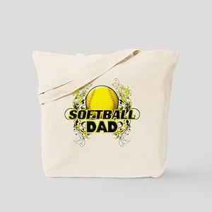 Softball Dads (cross) Tote Bag