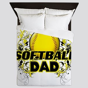 Softball Dads (cross) Queen Duvet