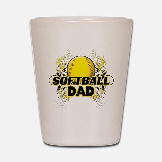 Softball Dads (cross).png Shot Glass
