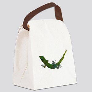 Day Gecko Canvas Lunch Bag