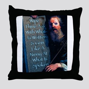Wipe Thine Ass With Throw Pillow