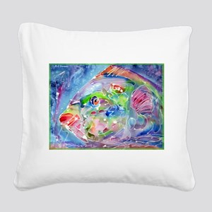 Tropical Fish! Colorful art! Square Canvas Pillow