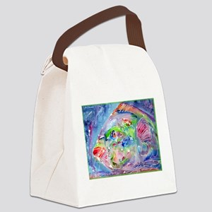 Tropical Fish! Colorful art! Canvas Lunch Bag