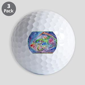 Tropical Fish! Colorful art! Golf Balls