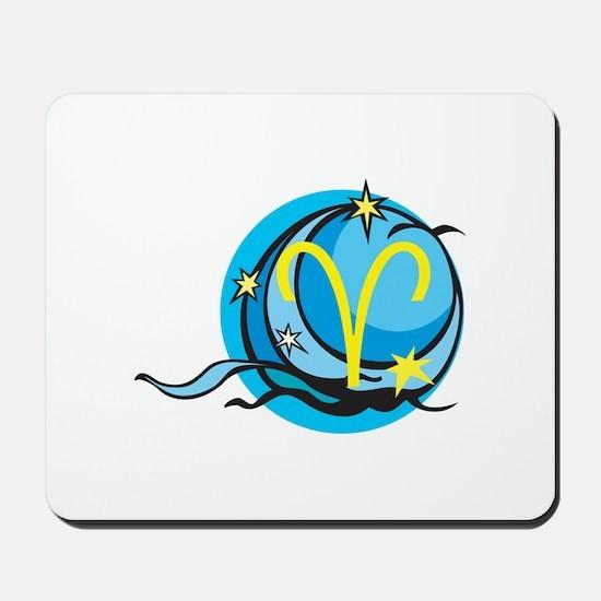 Mystical Aries Zodiac Symbol Mousepad