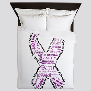 CF Words Ribbon Queen Duvet