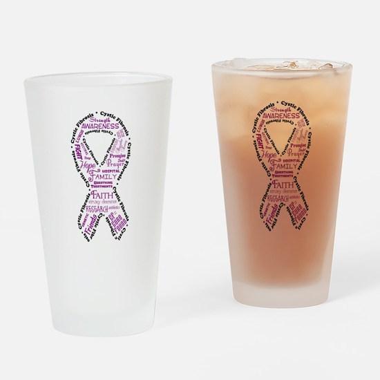 CF Words Ribbon Drinking Glass