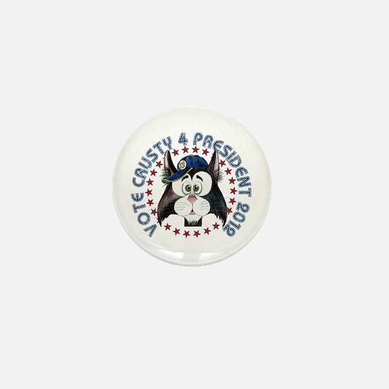 Vote 4 Crusty Mini Button #1
