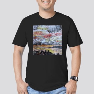 Columbia River Bridge at Sunset Men's Fitted T-Shi