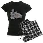 Climbing Words Women's Dark Pajamas