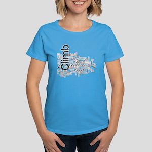 Climbing Words Women's Dark T-Shirt