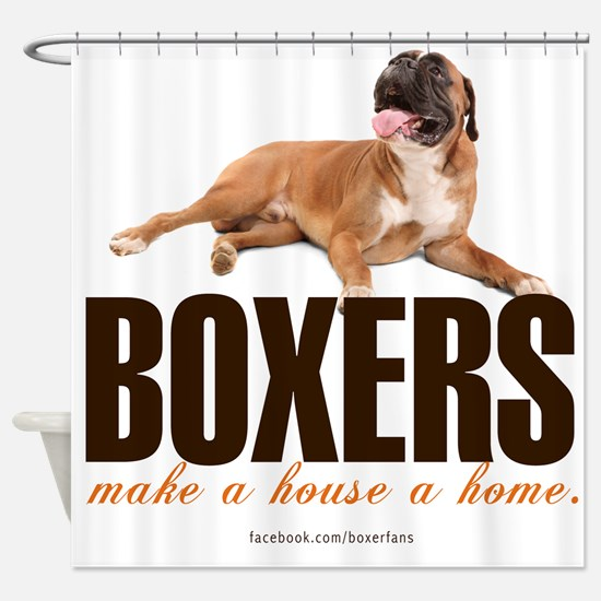 Home with a Boxer Shower Curtain
