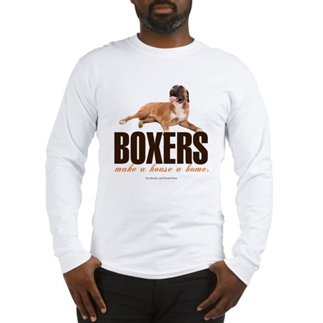 Home with a Boxer Long Sleeve T-Shirt